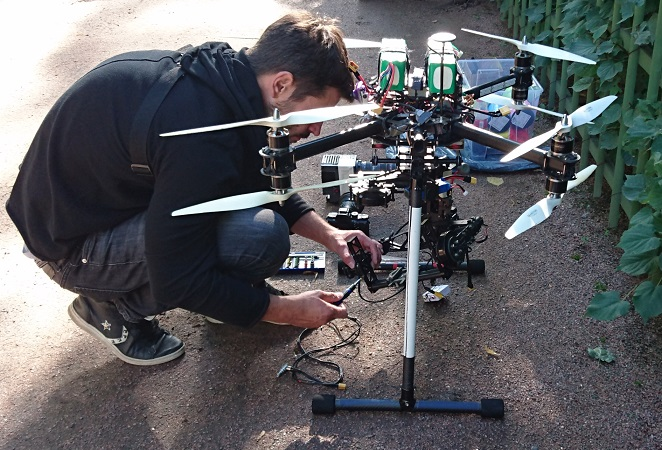 Drone filming in Russia