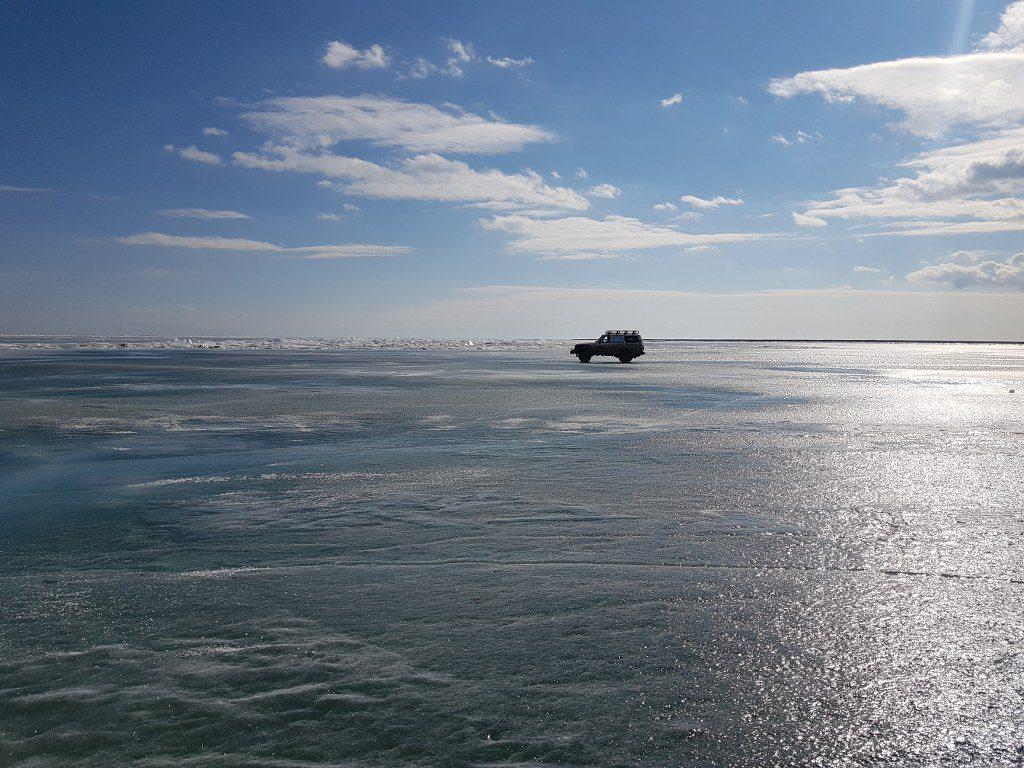 FilmspbTV filmando en el lago Baikal