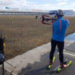 FilmspbTV filmando como se entrenan los biatlonistas