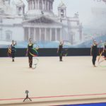 FilmspbTV filmando gimnasia artistica en San Petersburgo