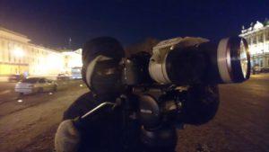 FilmspbTV filmando con mucho frio en Rusia
