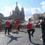 FilmspbTV grabando bailes folk en San PEtersburgo