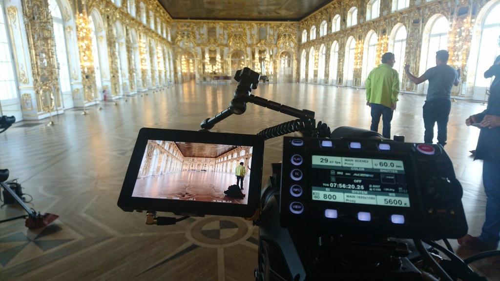 Rodaje en un palacio en San Petersburgo