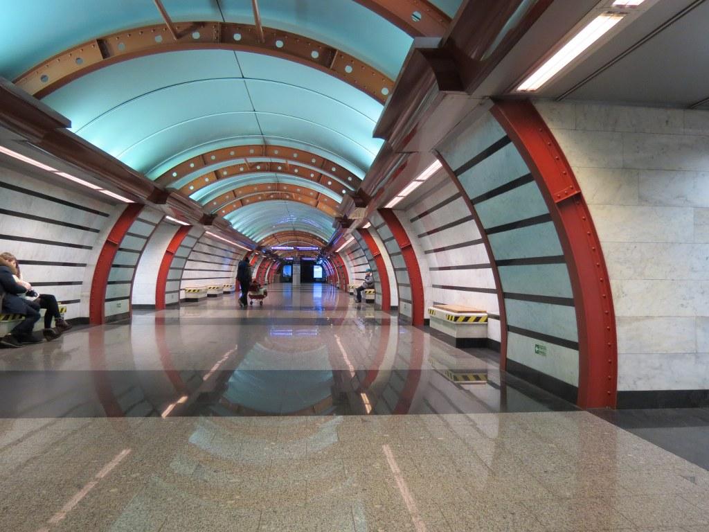 Rodaje en el Metro de San Petersburgo