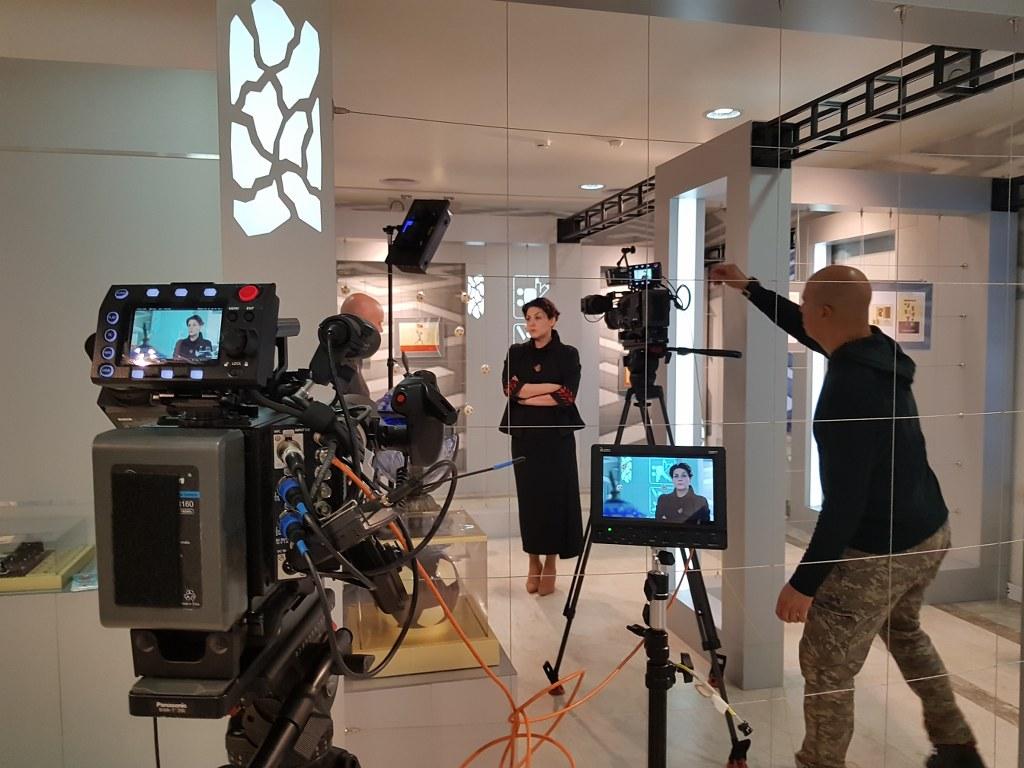 Filmar una entrevista en Moscu
