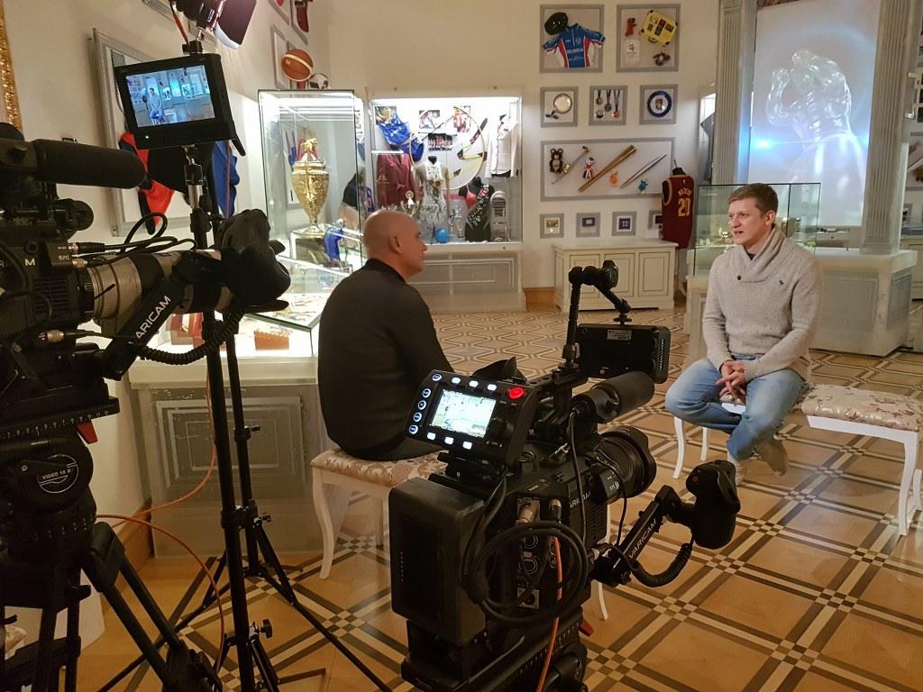 Rodaje de entrevistas en Moscu