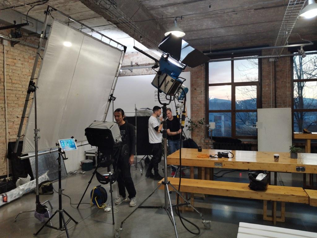 Produccion audiovisual en Vladivostok de una publicidad
