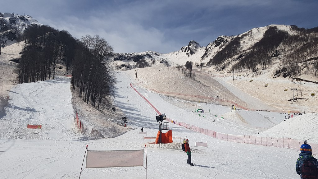 Rodaje en la montaña en Sochi