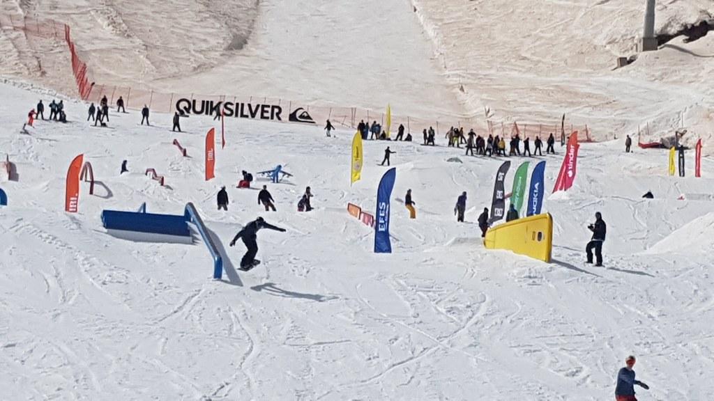 Filmar deportes de invierno en Sochi en Rusia