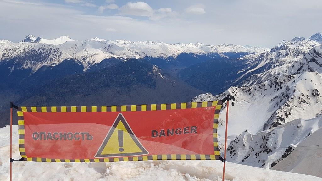 PRoduccion audiovisual en las montañas en Rusia