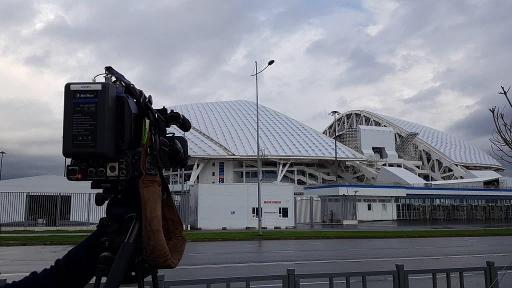 Filmando en Sochi