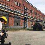 Filmando el museo industrial en Nizhniy Tagil en Rusia
