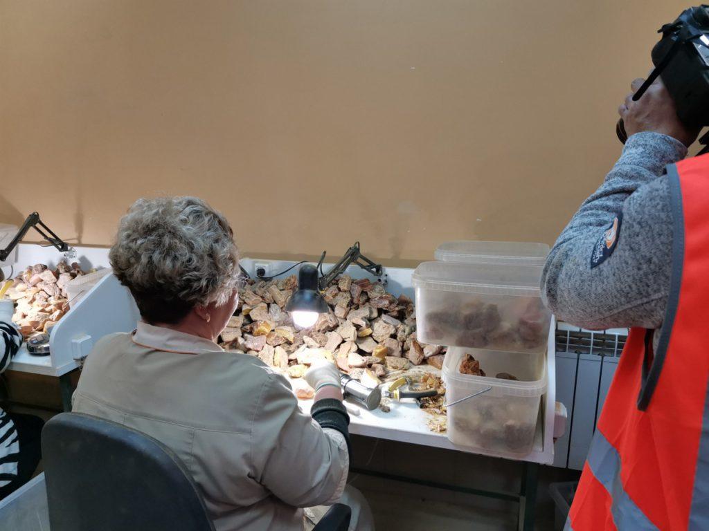 Filmando en la joyeria en Kalinindrado