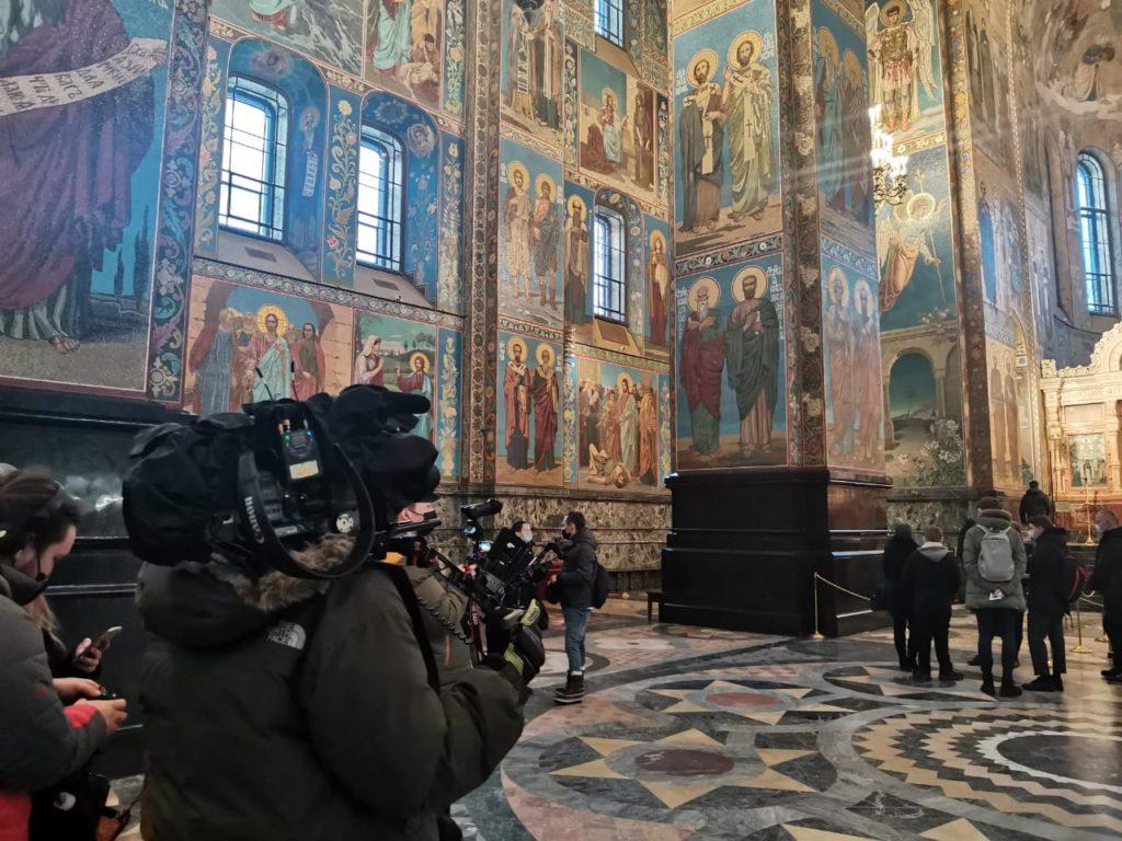 Rodaje en templos y museos en San Petersburgo