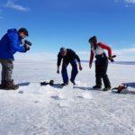 Rodaje en el hielo del lago Baikal