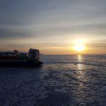 Filmacion en el lago Baikal en Rusia