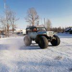 Transporte especial para filmar en Siberia